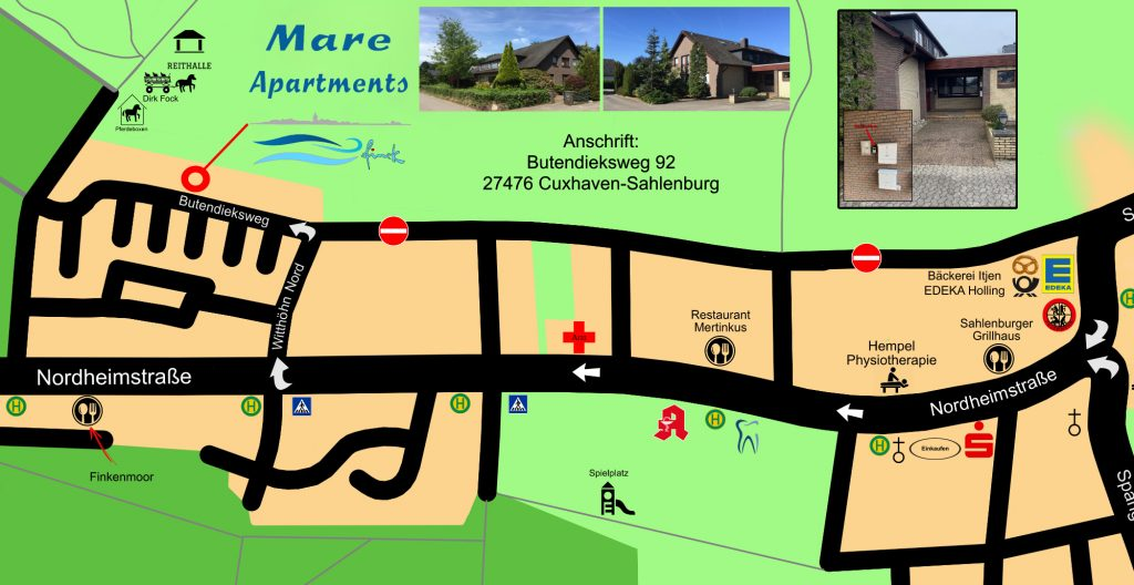 Anfahrt Mare Apartments 2020