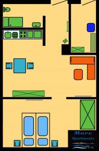 Mare Apartments Grundiss